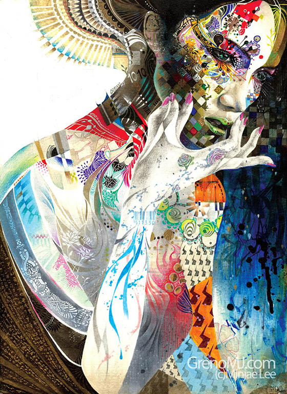 Minjae Lee's Intricate Portraits: minjaelee_4566456465_large.jpg