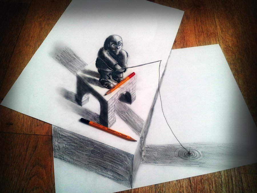3D Drawings by Muhammad Ejleh: keep_fishing_by_jjkairbrush-d5gxfor.jpg