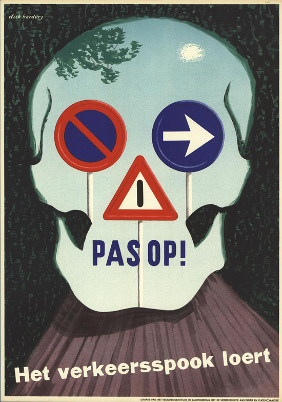 Vintage Safety Posters from the Netherlands: 1952-1953-Dick-Harders.jpg