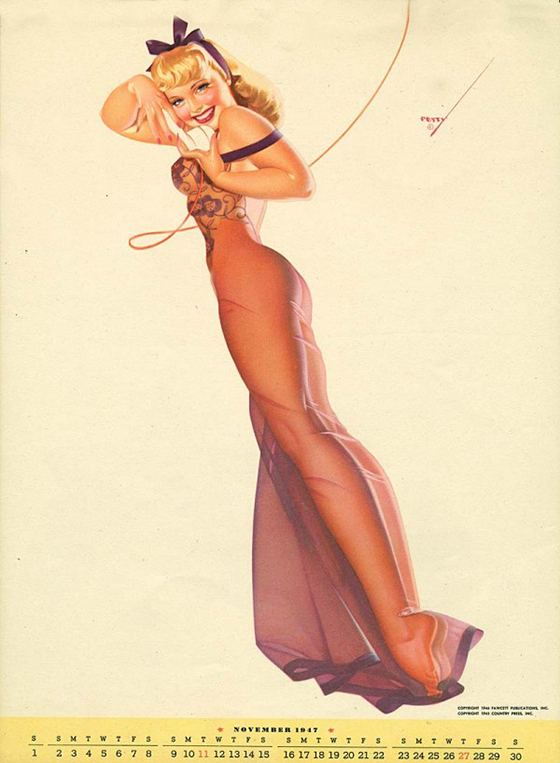 George Petty's Pinups for Every Month: george-petty-curvy-pin-up-10-600x817.jpg