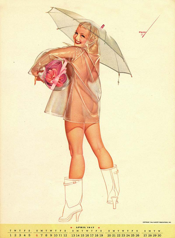 George Petty's Pinups for Every Month: george-petty-curvy-pin-up-2-600x813.jpg
