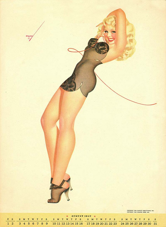 George Petty's Pinups for Every Month: george-petty-curvy-pin-up-7-600x818.jpg