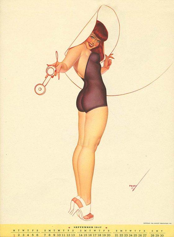 George Petty's Pinups for Every Month: george-petty-curvy-pin-up-8-600x820.jpg