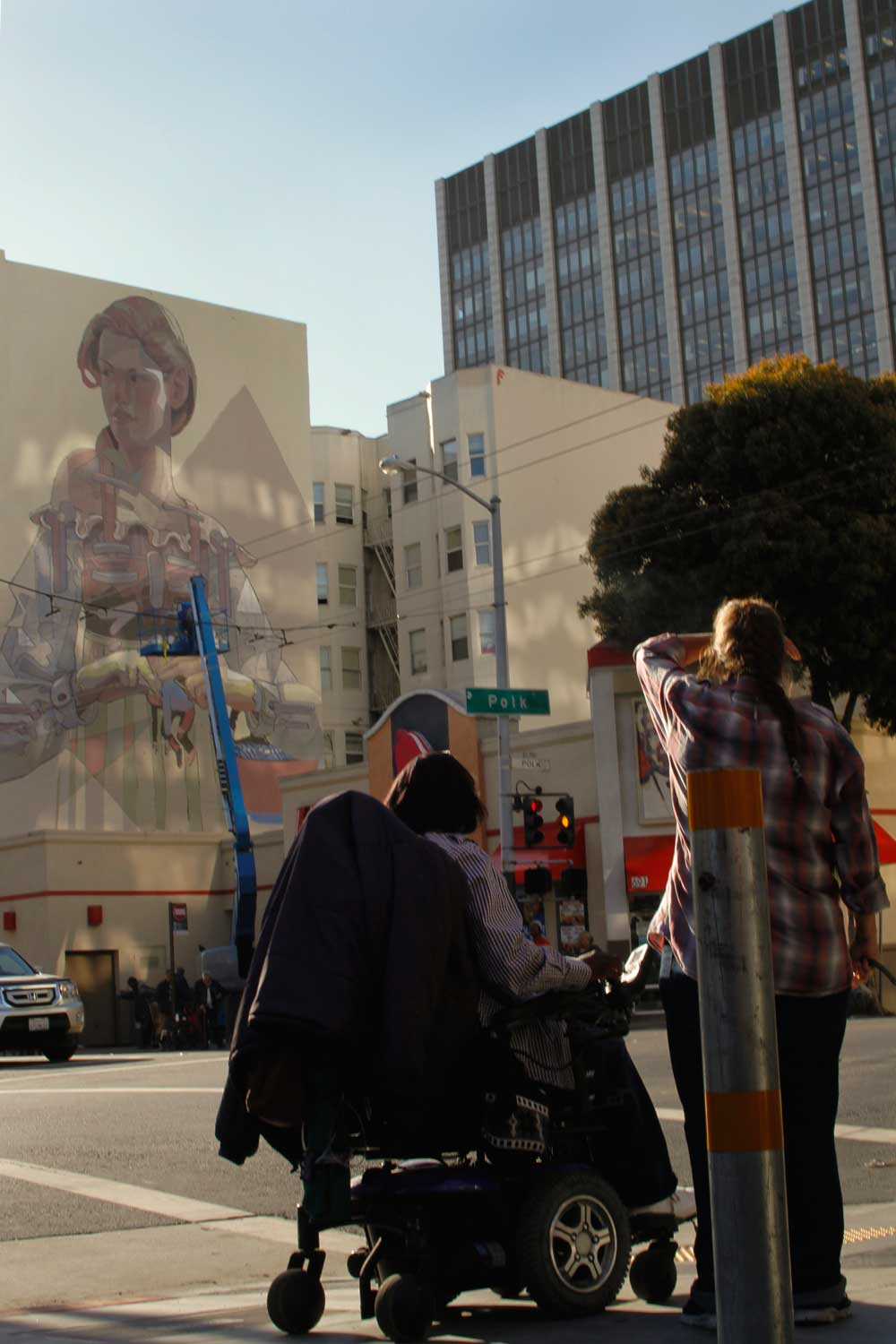 Aryz Working on a New Mural in San Francisco's Tenderloin: stare.jpg