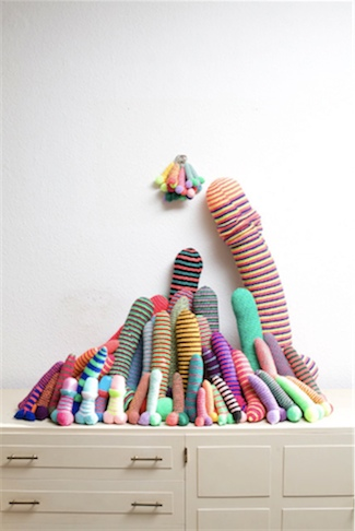 Crocheted Phalluses by Andrea Pritschow: aphome.jpg
