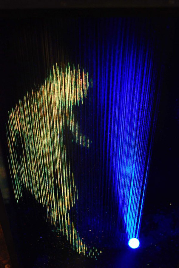 Alessandro Lupi's Individually Painted Thread Installation: alessandrolupifluorescentdensities10.jpg