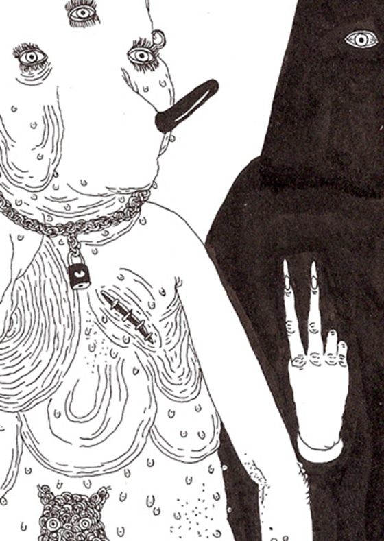 Disturbingly Awesome Drawings by James Unsworth: 2scabarelladetail.jpg