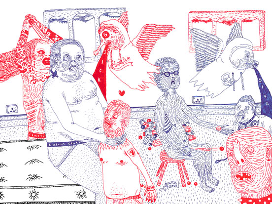 Disturbingly Awesome Drawings by James Unsworth: sketchbook1web.jpg