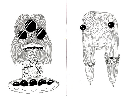Disturbingly Awesome Drawings by James Unsworth: sketchbook6web.jpg
