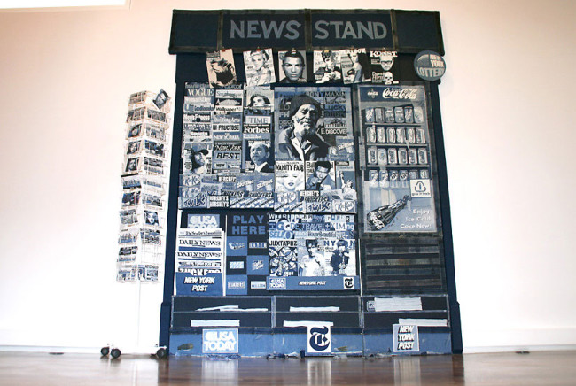 Life-Sized Newsstand Made from Denim by Denimu: Denimu-2-650x436.jpg