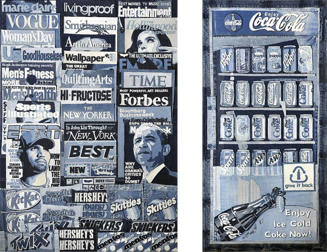 Life-Sized Newsstand Made from Denim by Denimu: Denimu-3-650x501.jpg