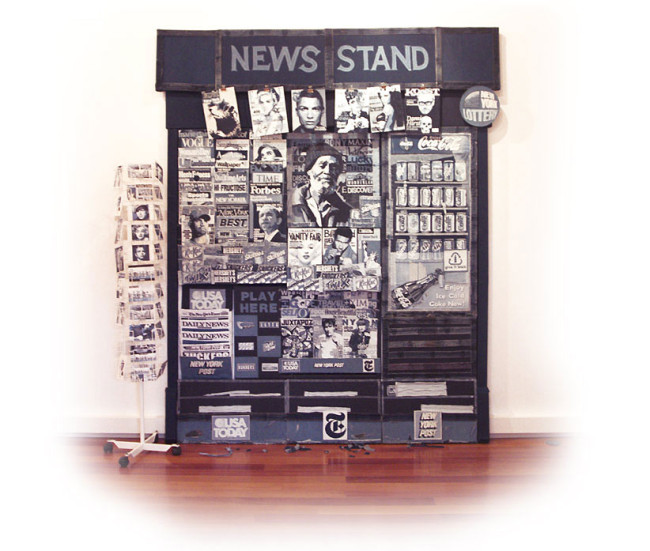 Life-Sized Newsstand Made from Denim by Denimu: Denimu-650x551.jpg