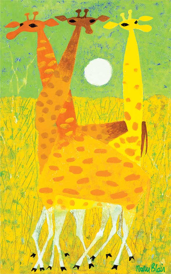 Cathie Bleck on Disney's Legendary Artist Mary Blair: Giraffes10x16.jpg