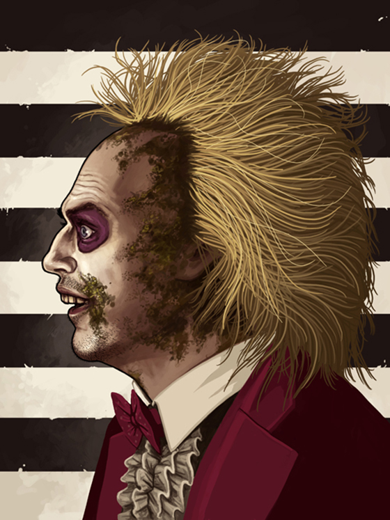 Badass Movie Portraits by Mike Mitchell: 22_beetlejuice-60.jpg