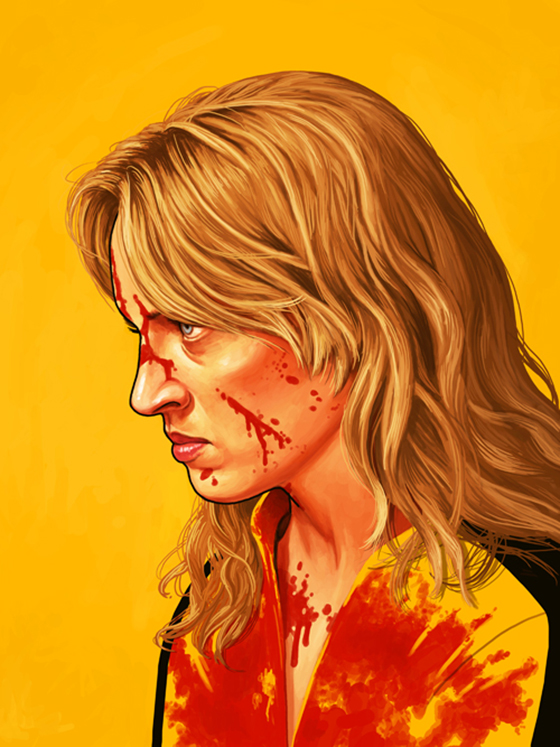 Badass Movie Portraits by Mike Mitchell: 22_bride-100.jpg
