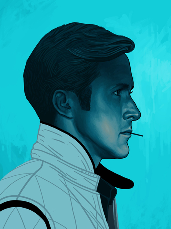 Badass Movie Portraits by Mike Mitchell: 22_driver.jpg