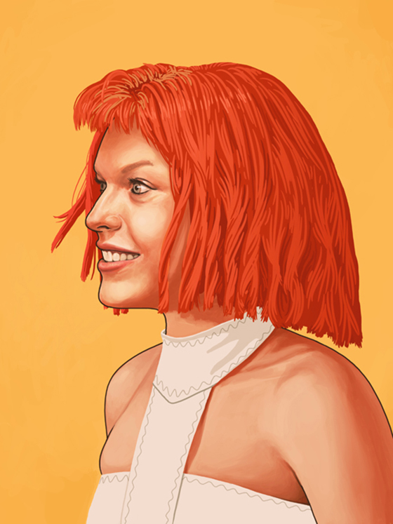 Badass Movie Portraits by Mike Mitchell: 22_leeloo-55.jpg