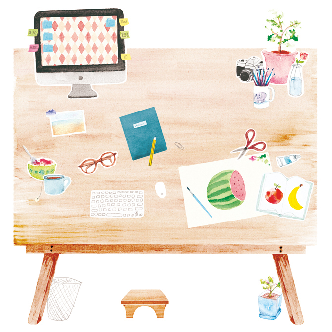 Amy Borrell's Illustrated Taxonomies: amy-borrell-desk_1.jpg