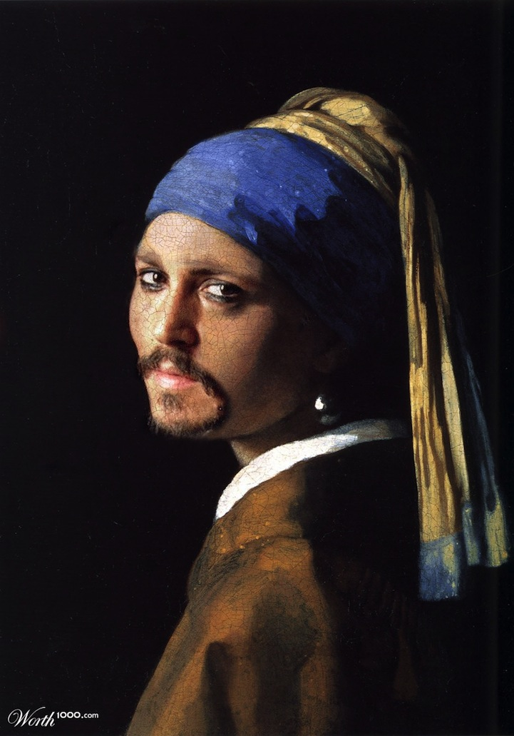 Celebrities Re-imagined in Classic Paintings: worth1000modernrenassaince12.jpg