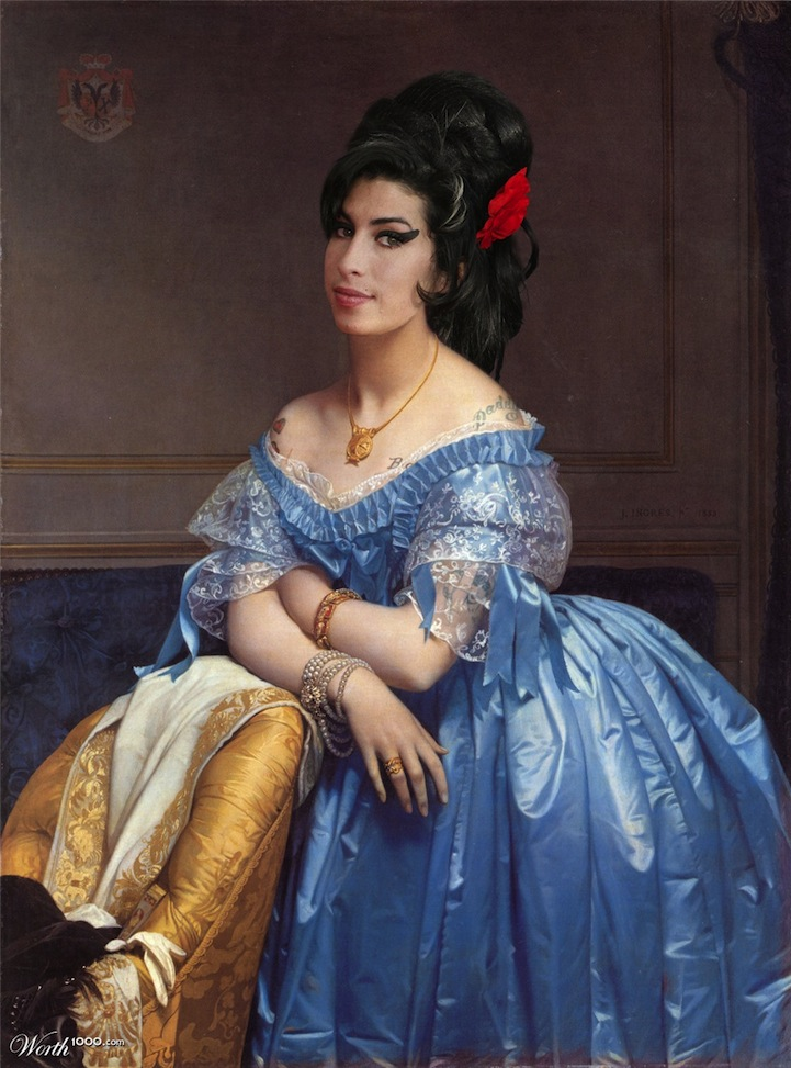 Celebrities Re-imagined in Classic Paintings: worth1000modernrenassaince6.jpg