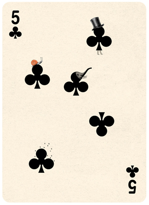 Illustrated Deck of Cards by Jonathan Burton: 5-clubs_6.jpg