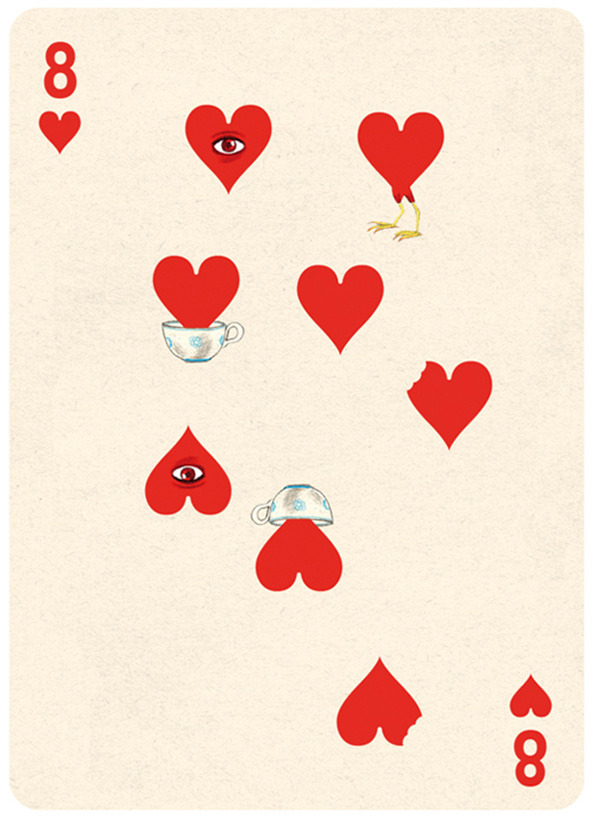 Illustrated Deck of Cards by Jonathan Burton: 8-hearts_5.jpg