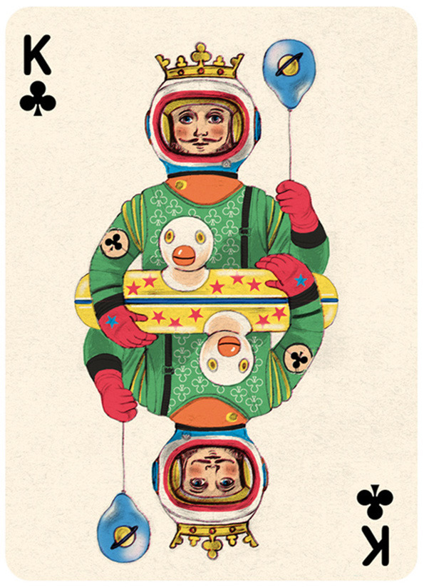 Illustrated Deck of Cards by Jonathan Burton: King-clubs_8.jpg