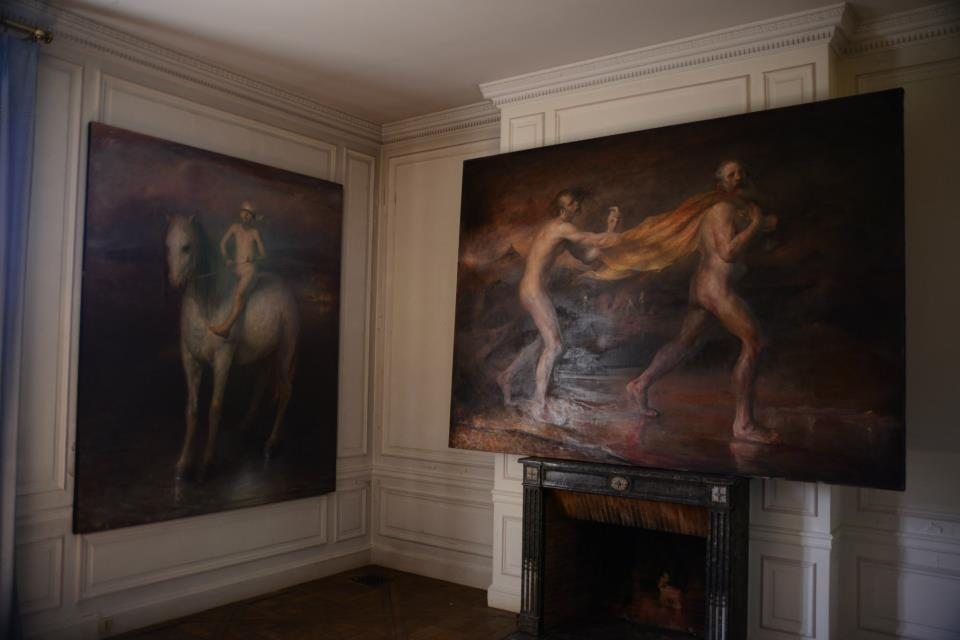 Odd Nerdrum Open House, Maisons-Laffitte, France: 1st bedroom.jpg