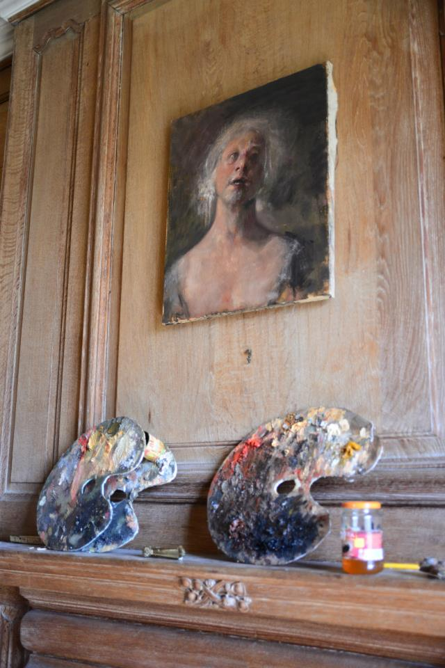 Odd Nerdrum Open House, Maisons-Laffitte, France: 2ndfloor studio.jpg
