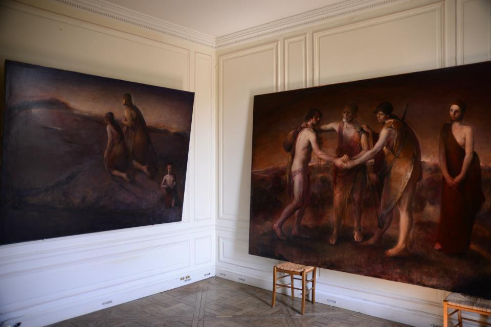 Odd Nerdrum Open House, Maisons-Laffitte, France: 3rd bedroom.jpg