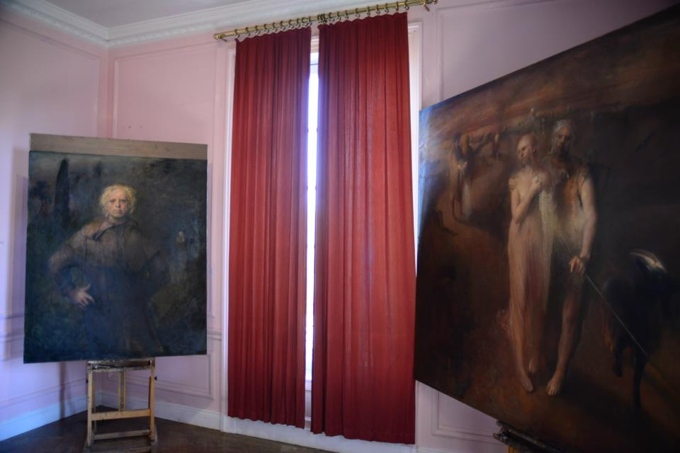 Odd Nerdrum Open House, Maisons-Laffitte, France: 4thbedroom.jpg