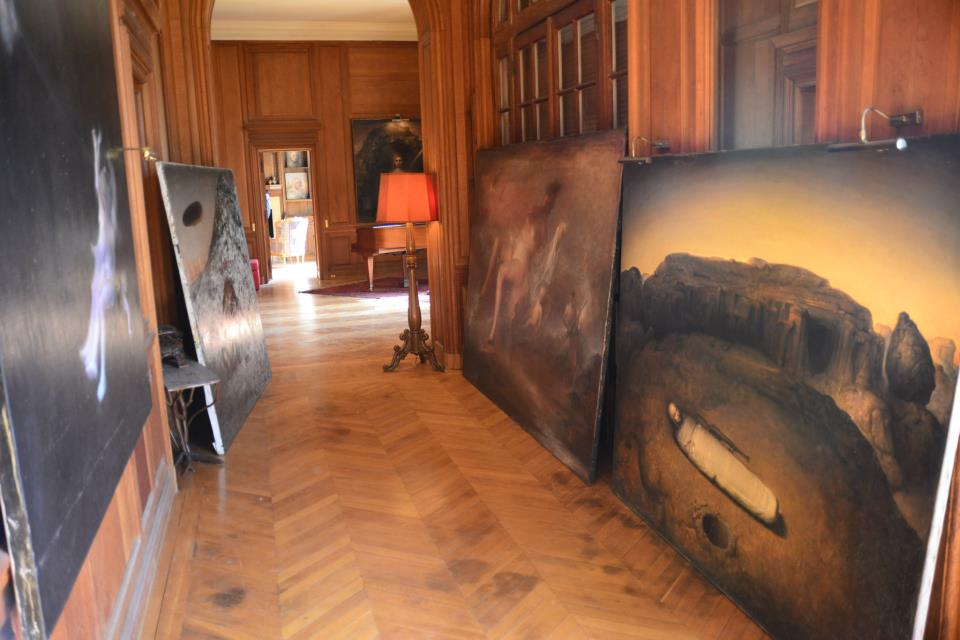 Odd Nerdrum Open House, Maisons-Laffitte, France: Hallway to studio.jpg