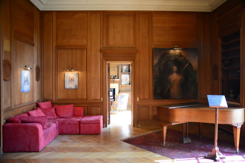 Odd Nerdrum Open House, Maisons-Laffitte, France: Piano room.jpg