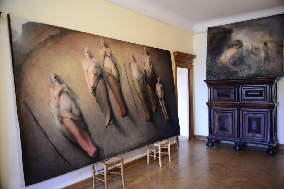 Odd Nerdrum Open House, Maisons-Laffitte, France: Upstairs Hallway.jpg