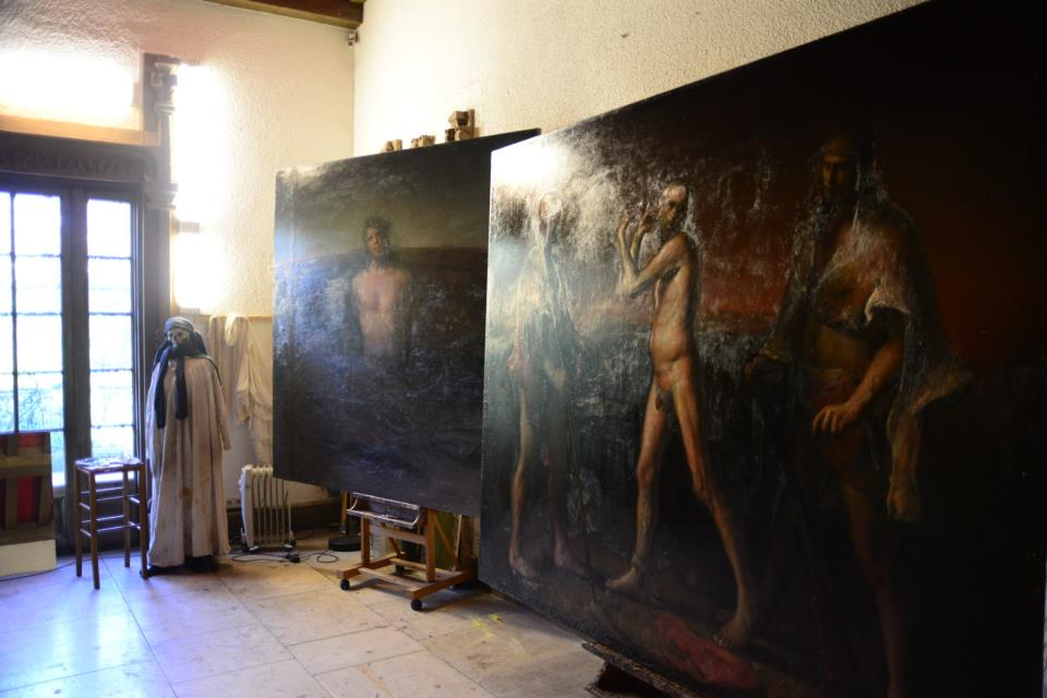 Odd Nerdrum Open House, Maisons-Laffitte, France: main studio 2.jpg
