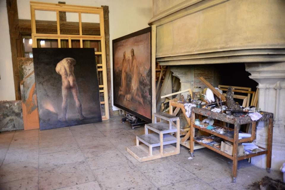 Odd Nerdrum Open House, Maisons-Laffitte, France: main studio.jpg