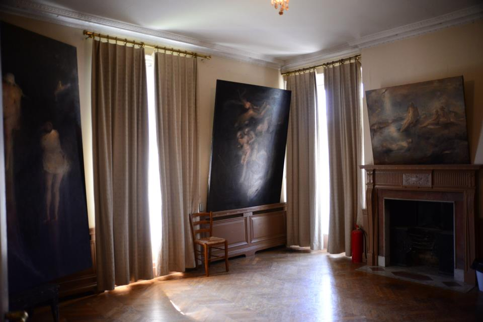 Odd Nerdrum Open House, Maisons-Laffitte, France: master bedroom.jpg