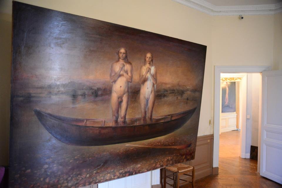 Odd Nerdrum Open House, Maisons-Laffitte, France: master bedroom3.jpg