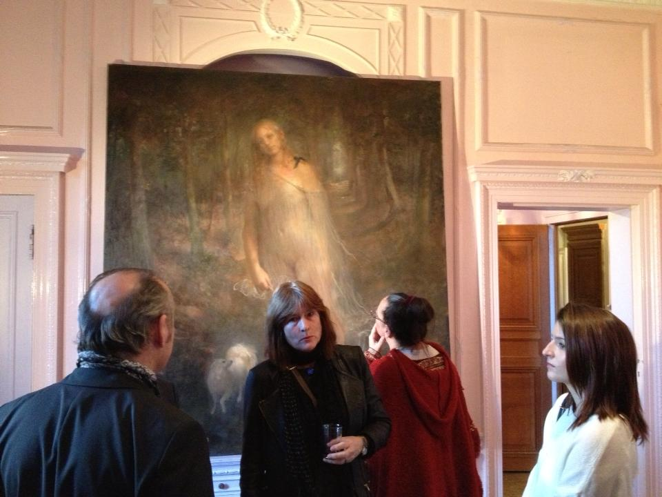 Odd Nerdrum Open House, Maisons-Laffitte, France: opening night 3.jpg