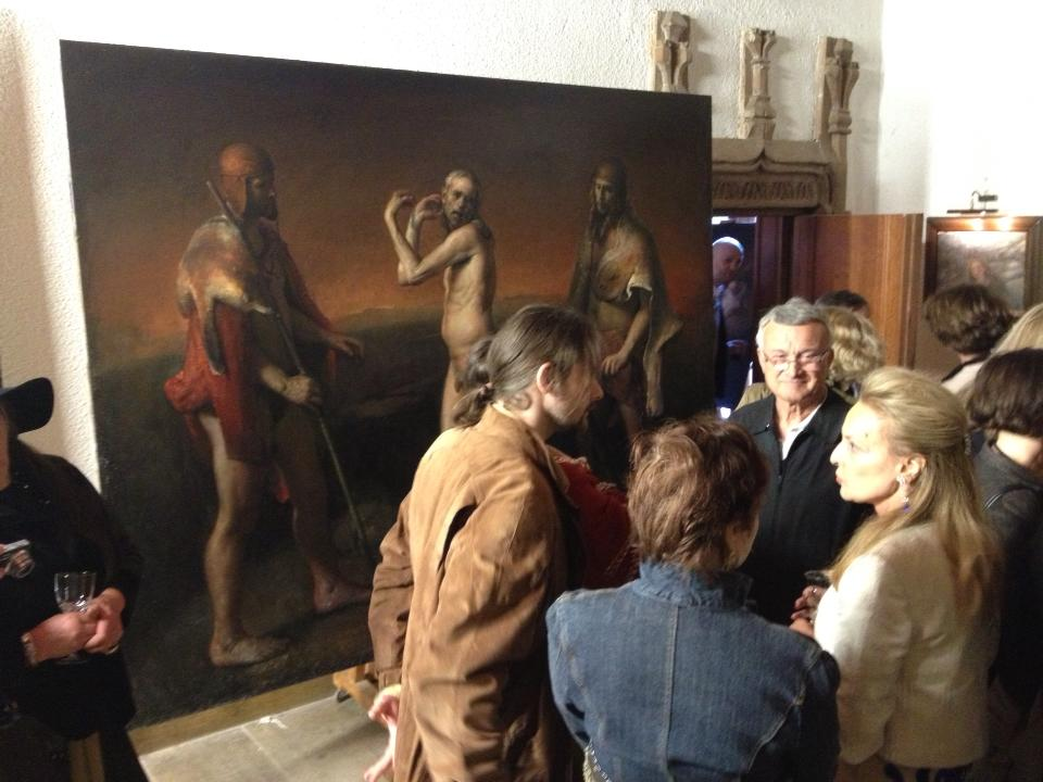 Odd Nerdrum Open House, Maisons-Laffitte, France: opening night2.jpg