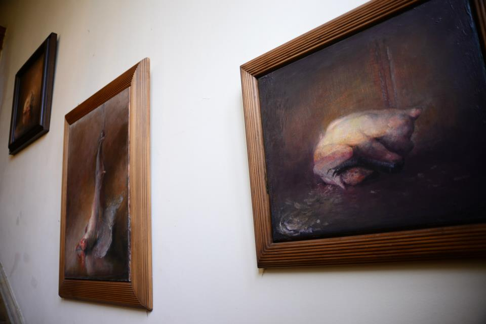 Odd Nerdrum Open House, Maisons-Laffitte, France: up the staircase.jpg