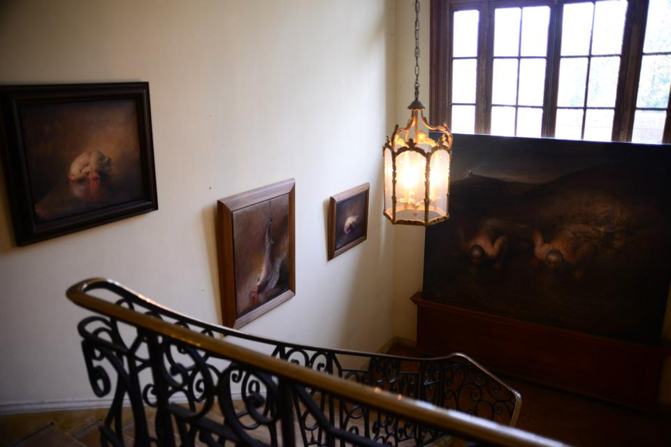Odd Nerdrum Open House, Maisons-Laffitte, France: view top of starecase.jpg
