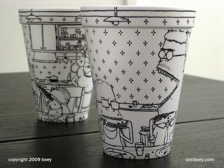 Styrofoam Cup Illustrations by Cheeming Boey: CheemingBoey12.jpg