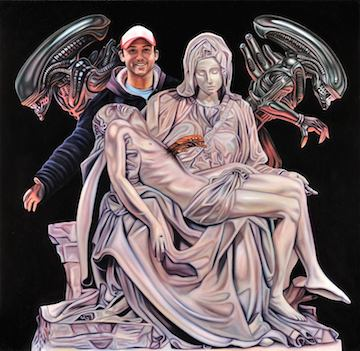 Paintings by Robert Xavier Burden: aliens-pieta small web.jpg