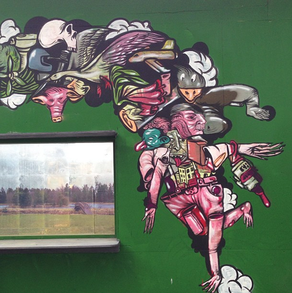 Artshow and mural for Other in Copenhagen: jux_troy_lovegates3.png