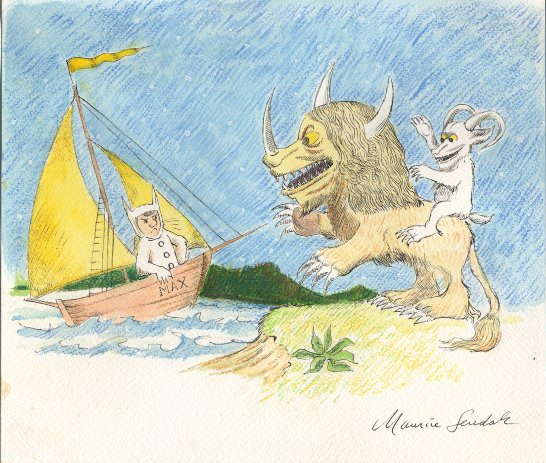 Maurice Sendak: 50 Years, 50 Works, 50 Reasons @ Walt Disney Family Museum, SF: 16.WDFM_Sendak_WildThingsandMax.jpg