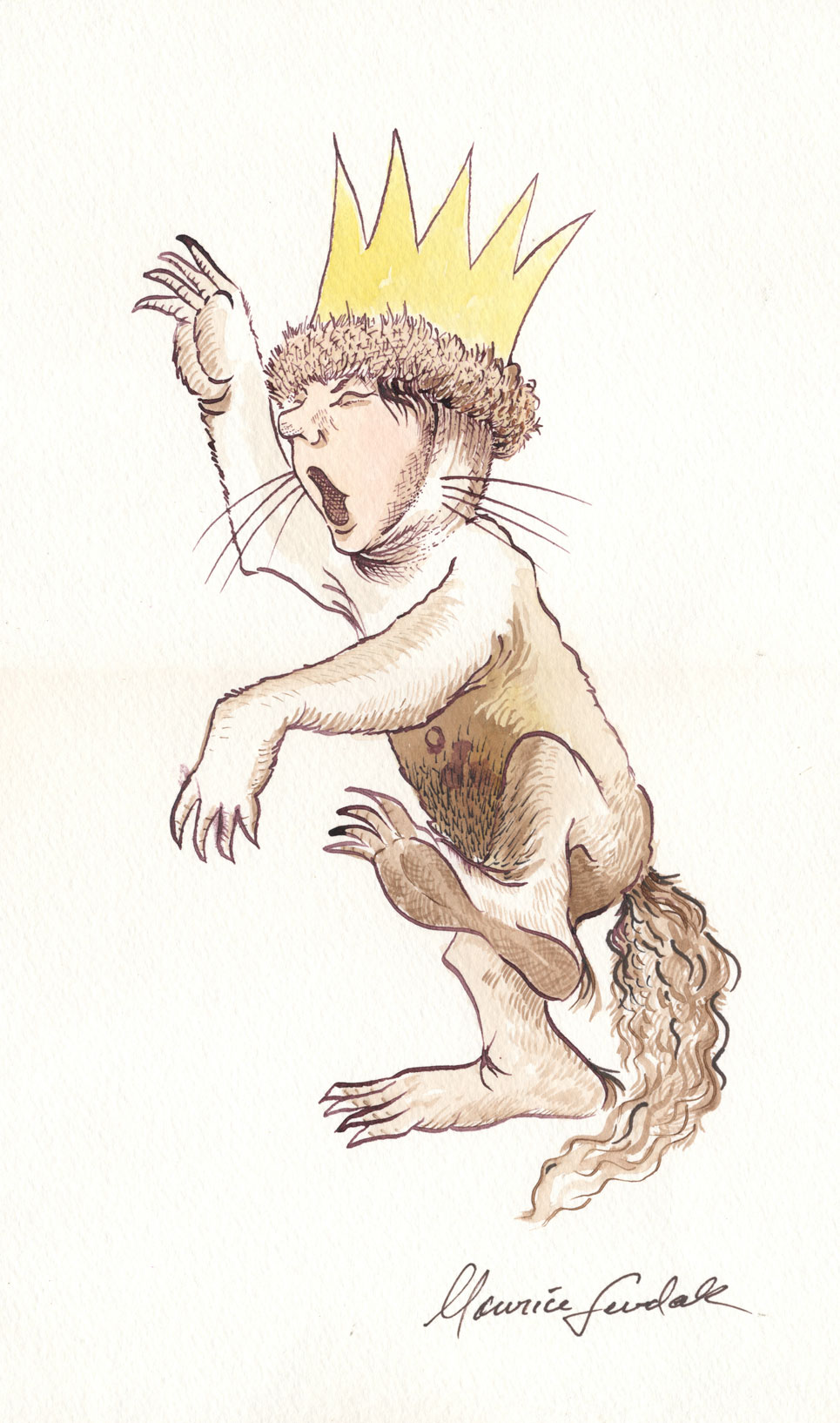 Maurice Sendak: 50 Years, 50 Works, 50 Reasons @ Walt Disney Family Museum, SF: 23.WDFM_Sendak_KingMax.jpg
