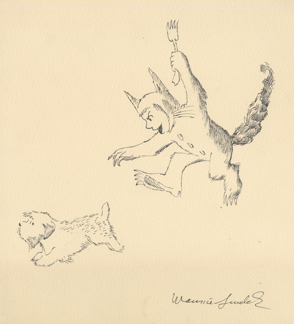 Maurice Sendak: 50 Years, 50 Works, 50 Reasons @ Walt Disney Family Museum, SF: 26.WDFM_Sendak_MaxandJenny.jpg