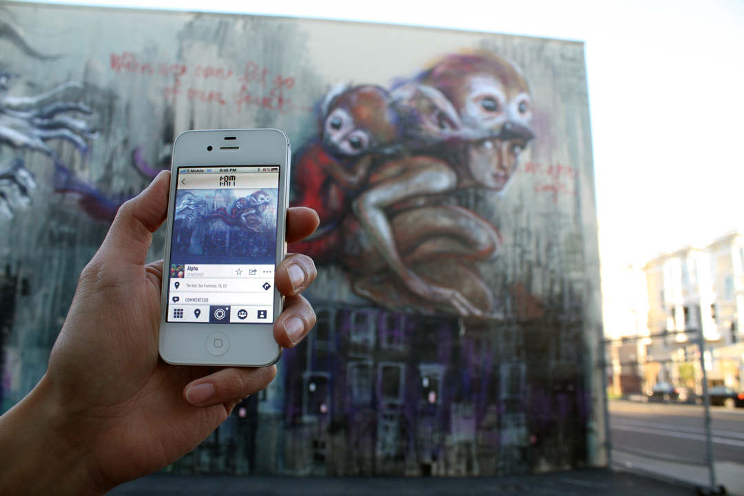 1AM Mobile App Allows You to Capture and Share Your Street Art Discoveries: herakut_mobile_1am-1.jpg