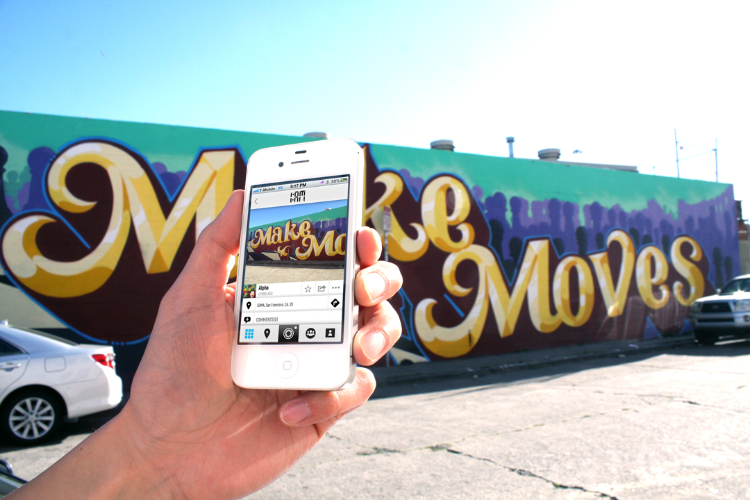 1AM Mobile App Allows You to Capture and Share Your Street Art Discoveries: make_moves_mobile_1am.jpg